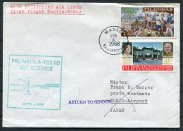 1968 Philippines Japan First Flight Cover. Manila - Tokyo - Philippines