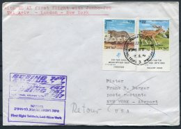 Isreal USA EL AL First Flight Cover. Tel Aviv - NYC - Airmail