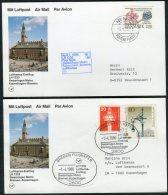1986 Denmark Germany Lufthansa First Flight Cards(2) Copenhagen / Bremen - Airmail