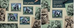 Centrafrica 2014, Animals, Gorillas, 4val In BF+BF
