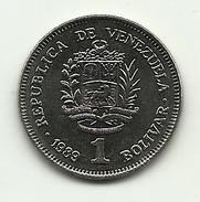 1989 - Venezuela 1 Bolivar, - Venezuela