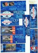 ETIQUETTES-EAU CRISTALINE-DIFFERENTES SOURCES ET FESTIVITES-2 SCANS- - Etiketten