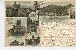 ALLEMAGNE - Gruss Aus KÖNIGSWINTER  ( 1900 ) - Koenigswinter