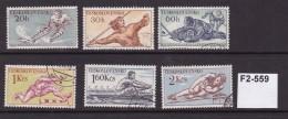 Czechoslovakia 1959 Sports 6 Values Complete