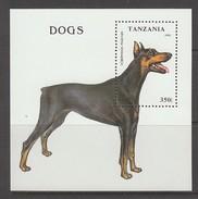 BLOC NEUF DE TANZANIE - CHIEN : DOBERMAN N° Y&T 218 - Hunde