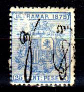 Porto-Rico-0002 - 1875 - Yvert & Tellier N. 5 (+) LH - Senza Difetti Occulti. - America Centrale