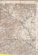 Krani Slovenia Guerra Italo Austriaca Mappa Map Karte Militare 1915 1916  Lingua Italiano E Slava - Carte Topografiche