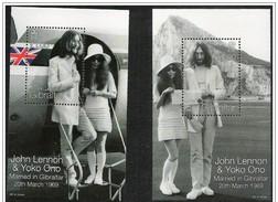 Gibilterra/Gibraltar: John Lennon & Yoko Ono, Beatles Foglietto, Block, Bloc - Cantanti