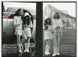 Gibilterra/Gibraltar: John Lennon & Yoko Ono, Beatles Foglietto, Block, Bloc