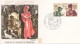 France FDC Du 8 Novembre 1969 à Paris Louis XI Et Charles  Le Temeraire - 1960-1969