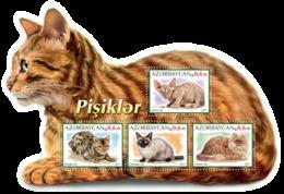 AZERBAIJAN 2017 SHEET CATS GATTI CHATS GATOS KATZEN Azrb17219a - Azerbaïdjan