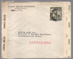 CONGO - LETTRE  LEOPOLDVILLE Vers Londres - Censure Aa + N° Censeur 44 + Censure UK - BC1
