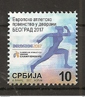 SERBIA 2017,SPORT,ATHLETICS CHAMPIONSHIP BEOGRAD,TAX,CHARITY,,MNH