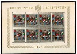 Liechtenstein: Foglietto, Block, Bloc, Stemma, Armoiries, Coat Of Arms