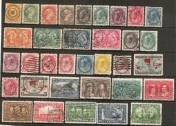 34 Timbres Anciens Du Canada - Canada
