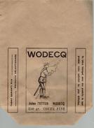 Sac Gros Papier.  WODECQ Jules Cotton. 250 Gr. Coupe Fine. Tabac Garanti Pur. (rare) - Publicité