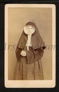Photo-carte De Visite / CDV / Non / Nun / Religieuse / Photo B. Cusner / Enghien / Edingen