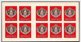 Monaco: Stemma, Armoiries, Coat Of Arms, Foglietto, Block, Bloc, Libretto, Carnet