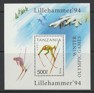 BLOC NEUF DE TANZANIE - SKI NORDIQUE (JEUX OLYMPIQUES DE LILLEHAMMER) N° Y&T 228