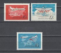 RUSSIE. YT PA 115/117 Neuf ** 40e Anniversaire De La Compagnie Aérienne AEROFLOT 1963
