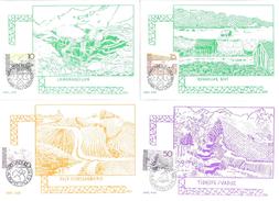 """Liechtenstein 1972/73: 11 MK """"Landschaften"""" Zu 512-524 (ohne 514+516) Mi 573-577+581-586  Mit ET-o - Cartes-Maximum (CM)"""