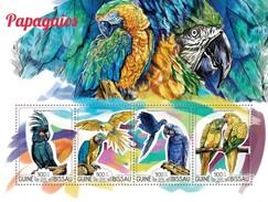 GUINE BISSAU 2015 SHEET PARROTS PERROQUETS LOROS PAPAGAIOS PAPAGEIEN PAPPAGALLI BIRDS OISEAUX AVES Gb15208a - Guinea-Bissau