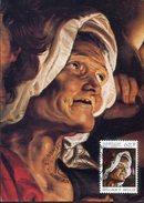 21739 Belgium, Maximum 1976 Painting Of    P.p. Rubens,  La Vieille Femme, The Woman