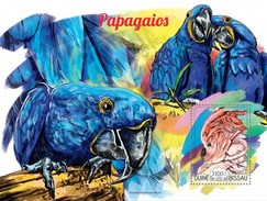 GUINE BISSAU 2015 SHEET PARROTS PERROQUETS LOROS PAPAGAIOS PAPAGEIEN PAPPAGALLI BIRDS OISEAUX AVES Gb15208b - Guinea-Bissau