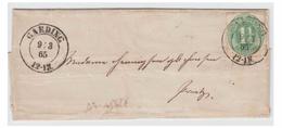 ALLEMAGNE --SCHLESWIG-HOLSTEIN -N°14- 1865 -- LETTRE DE GARDING-- - Schleswig-Holstein