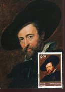 21744 India,  Maximum 4.4.1978 Bombay, Painting Of P.p.  Rubens. Self Portrait