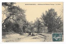 MONTFERMEIL  (cpa 93)   Le Château De Maison Rouge -  Le Parc  - L 1 - Montfermeil