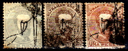 Porto-Rico-0006 - 1873 - Yvert & Tellier N. 1, 2, 3 (o) Used - Senza Difetti Occulti. - America Centrale