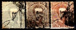 Porto-Rico-0006 - 1873 - Yvert & Tellier N. 1, 2, 3 (o) Used - Senza Difetti Occulti. - Central America