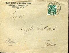 21745 Ceskoslovensko,circuled  Cover 1922 From Bratislava To Italy,
