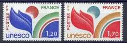 FRANCE - Yv. Nr 56/57 - UNESCO - MNH** - Cote 1,65 € - Neufs