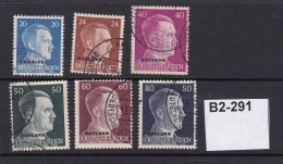 German Occupation Of Russia And Ukraine. 1941 6 Values To 80pf