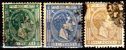 Porto-Rico-0007 - 1877 - Yvert & Tellier N. 15, 16, 17 (o) Used - Senza Difetti Occulti. - Central America