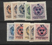 1916 MH Sweden, Set Of 10