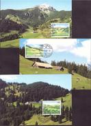"""Liechtenstein 2007: Maximum-Karten Nr.272 """"Weide-Alpen III"""" Zu 1394-96 Mi 1451-53 Yv 1392-95 - Agriculture"""