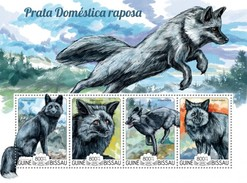 GUINE BISSAU 2015 SHEET DOMESTIC  SILVER FOX PRATA DOMESTICA RENARD ARGENTE WILDLIFE Gb15223a - Guinea-Bissau
