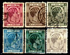 Porto-Rico-0009 - 1879 - Yvert & Tellier N. 23-28 (o/sg) Used/NG - Senza Difetti Occulti. - Central America