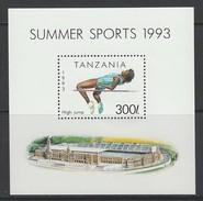 BLOC NEUF DE TANZANIE - SAUT EN HAUTEUR N° Y&T 231