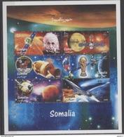 Somalie Space  Albert EINSTEIN Footbal Concorde Sheetlet