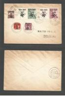 CZECHOSLOVAKIA. 1938 (9 Oct) Nazi Occupation Ovpt. Schrekenstein - Tepliz. Multifkd Envelope.. Cartas