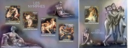 Centrafrica 2014, Art, Nymphs, Rubens, 4val In BF +BF