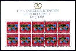 1968 LIECHTENSTEIN MINIFOGLIO N.450 MNH**