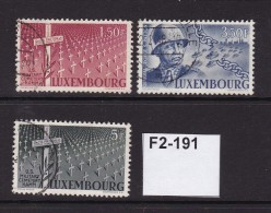 Luxembourg 1947 : Honouring Gen. George S. Patton 3 Values To 5F