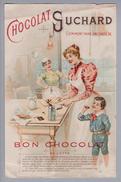 Motiv Schokolade Suchard Reklame Rechnung M. Kunz 1897-09-25 Litho - Alimentation