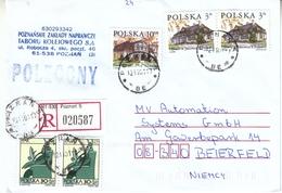 1 Einschreibbrief Aus Polen / 1 Registered Cover From Poland - 1944-.... République