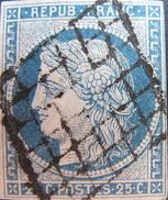 LOT OE/33 - CERES N°4 - GRILLE NOIRE BIEN CENTRALE - Cote : 60,00 € - 1849-1850 Ceres